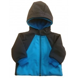 Softshell bunda podšitá tyrkys DUO - kód 5115