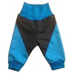 Softshell kalhoty podšité tyrkys DUO - kód 5119