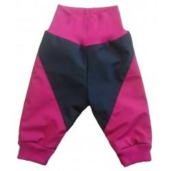 Softshell kalhoty podšité malina DUO - kód 5118