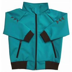 Letní softshell bunda tyrkys - kód 5152