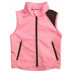 Letní softshell vesta růžová - kód 5165