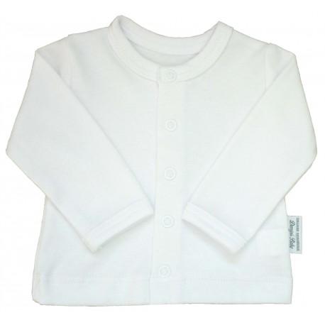 Kabátek bílý hladký - kód 202